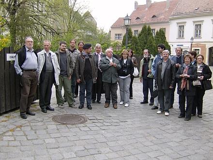 """A """"Közép-európai Kulturális Utak"""" konferencia (Eisenstadt/Kismarton) küldöttségének soproni látogatása"""