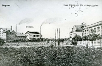 A Baross út jobbra a SOTEX épületével 1920 körül
