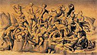 Bastiano da SANGALLO, Cascinai csata, Michelangelo után 1542 körül Holkham Hall, Norfolk