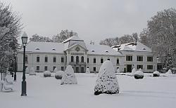 A nagycenki kastély télen