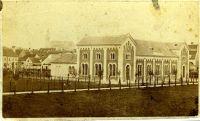 Tiefbrunner Sándor: A tornacsarnok a Papréten 1870 körül - Soproni Múzeum