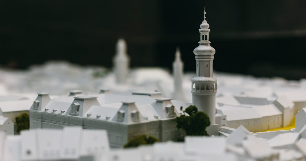 Város makett - Tűztorony
