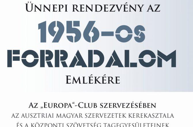 Ünnepi rendezvény '56 emlékére