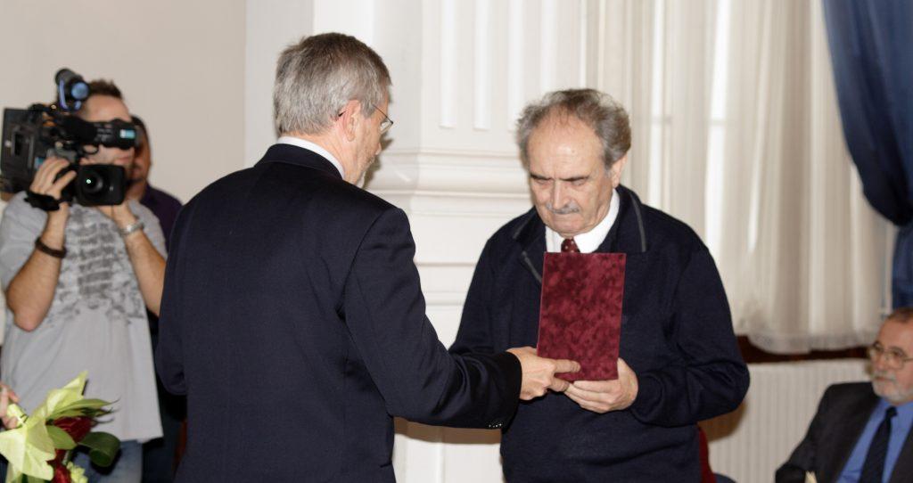 Domonkos Ottó köszöntése a 80. születésnapján