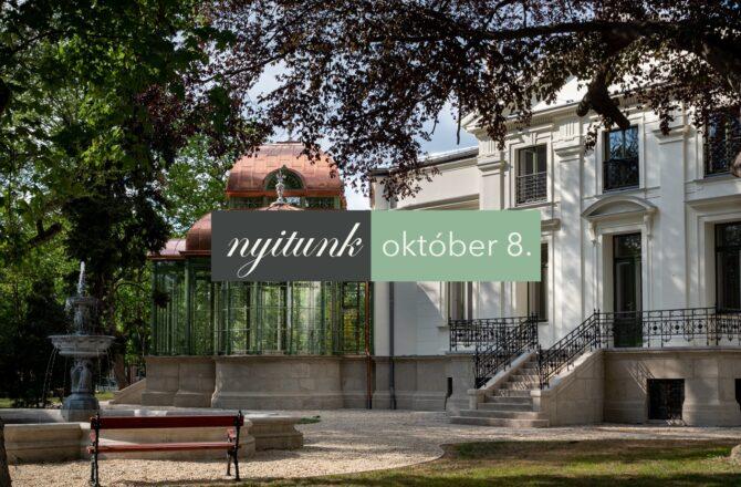 Október 8-án nyit a Lenck-villa